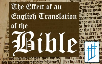 The Effect of an English Translation of the Bible